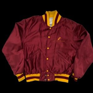 "Vintage 80s ""Soft Sheen"" Satin Baseball Jacket"
